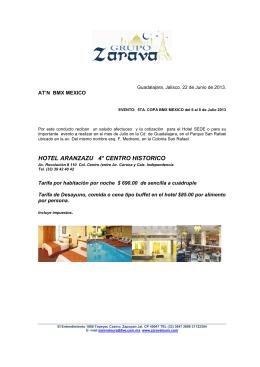 HOTEL ARANZAZU 4* CENTRO HISTORICO