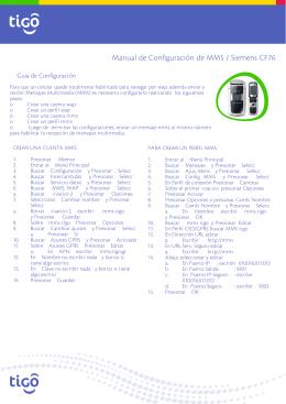 Manual de Configuración de MMS / Siemens CF76