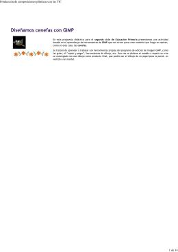 Diseñamos cenefas con GIMP