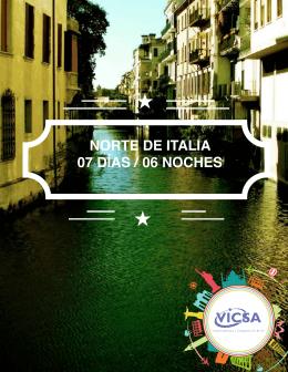 NORTE DE ITALIA 07 DÍAS / 06 NOCHES
