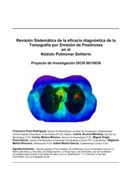Revisión sistemática de la eficacia diagnóstica - Neumología