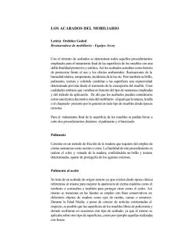LOS ACABADOS DEL MOBILIARIO