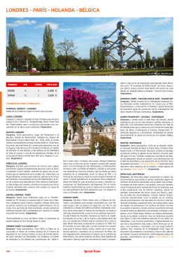 lonDres - París - HolanDa - bélgica