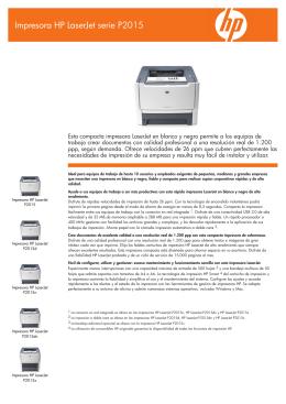 IPG Commercial OV2 Mono Laserjet Datasheet