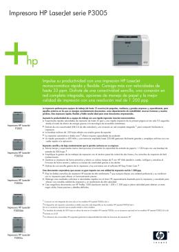 IPG Commercial Mono Laserjet Datasheet