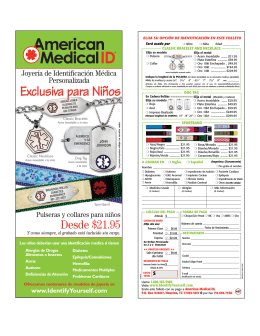Exclusiva para Niños - American Medical ID
