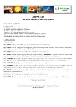 Itinerario en PDF