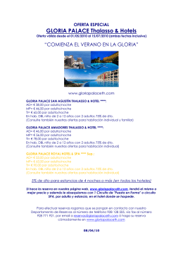 GLORIA PALACE Thalasso & Hotels