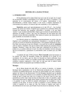Historia de la radiactividad - Facultad de Bioquímica,Química y