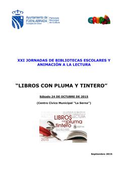 """""""LIBROS CON PLUMA Y TINTERO"""""""