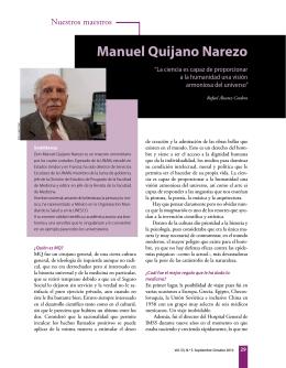 "Manuel Quijano Narezo. ""La ciencia es capaz de - E-journal"