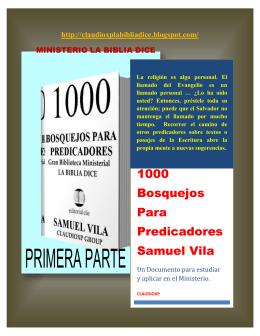 1000 Bosquejos Para Predicadores Samuel Vila
