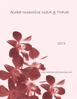 itinerario 01 - Aloha :: Incentive USA & Travel