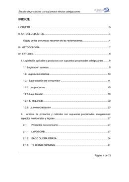 Estudio sobre productos con supuestos efectos adelgazantes