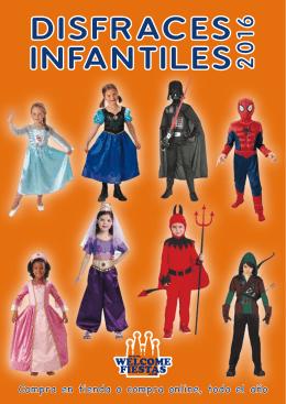 catálogo disfraces infantiles