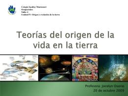 el origen de la vida en la tierra teoría de oparin