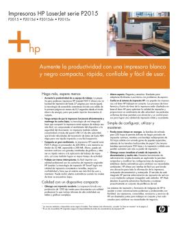 Impresoras HP LaserJet serie P2015