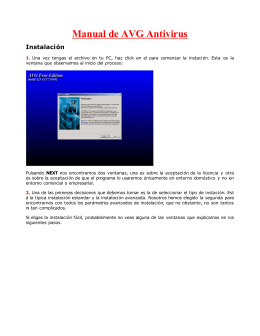 Descargar Manual de AVG antivirus.