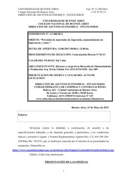 UNIVERSIDAD DE BUENOS AIRES Exp. Nº 13.388/2013 Colegio