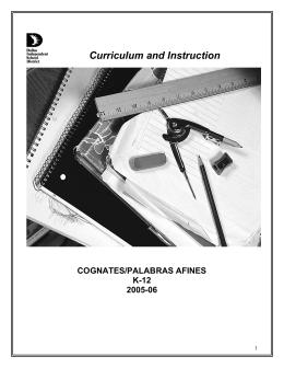COGNATES /PALABRAS AFINES