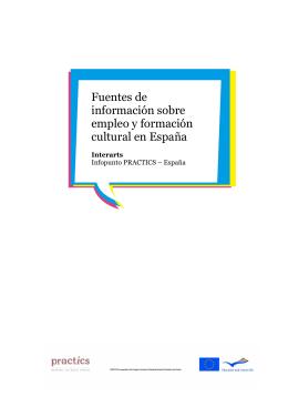 Fuentes de información sobre empleo y formación cultural