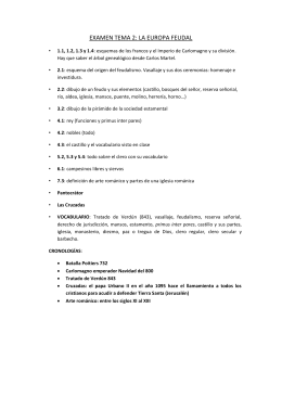 EXAMEN TEMA 2: LA EUROPA FEUDAL