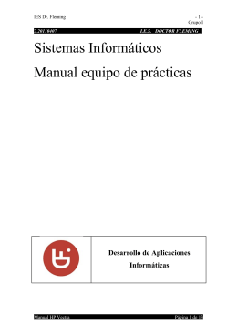 Sistemas Informáticos Manual equipo de prácticas