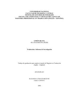 traducción e informe de investigación