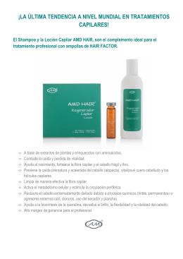 Presentacion Shampoo & Locion Capilar AMD HAIR