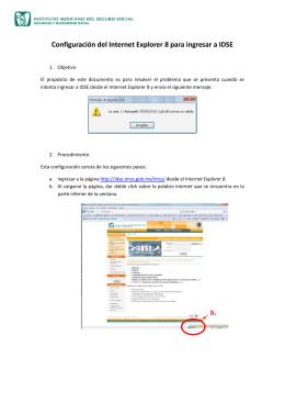Configuración del Internet Explorer 8 para ingresar a IDSE