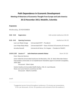 Path Dependence in Economic Development