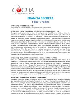 FRANCIA SECRETA 8 días – 7 noches