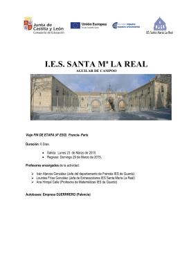 Viaje París - IES Santa María La Real