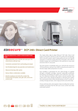 DCP 240+ Direct Card Printer