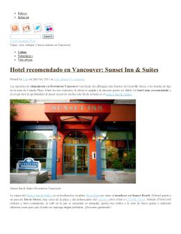 Hotel recomendado en Vancouver: Sunset Inn & Suites | 123rd