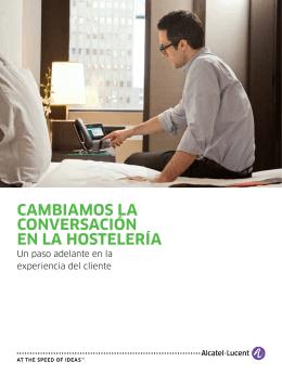 cambiamos la conversación en la hostelería - Alcatel