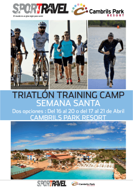 TRIATLON TRAINING CAMP CAMBRILS PARK.indd