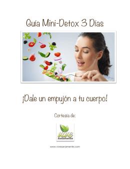 Guía Mini-Detox 3 Días
