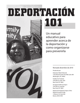 deportación 101 - Immigrant Defense Project