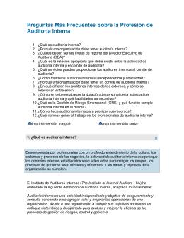 Preguntas Más Frecuentes Sobre la Profesión de Auditoría Interna