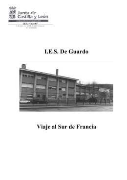 Folleto WEB Viaje Sur Francia Guardo