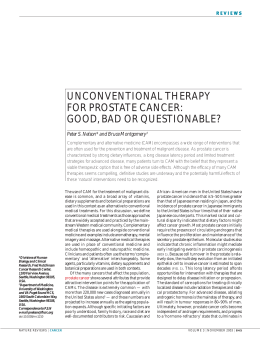unconventional therapy for prostate cancer: good, bad or