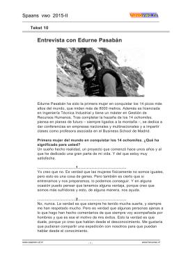 10 Entrevista con Edurne Pasabán