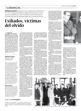 Exiliados, víctimas del olvido