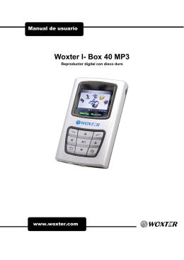 Woxter I- Box 40 MP3 - Instructions Manuals