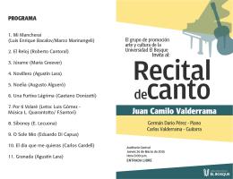 RECITAL DE CANTO Programa