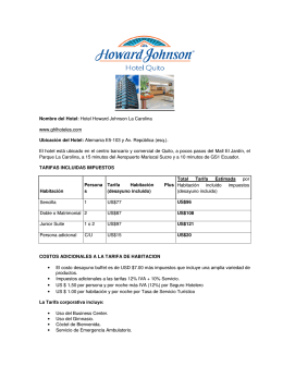 Nombre del Hotel: Hotel Howard Johnson La Carolina www