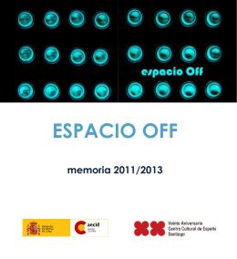 Memoria Espacio OFF 2011