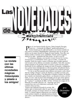 Descargar la revista número 1 de MagiaMadrid