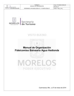Manual de Organización Fideicomiso Balneario Agua Hedionda